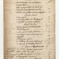 Un repas de noces par Augé, traiteur, pour le mariage de son fils en 1768