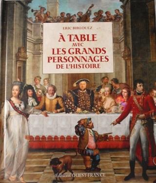 livre, à table avec les grands personnages de l'histoire, book