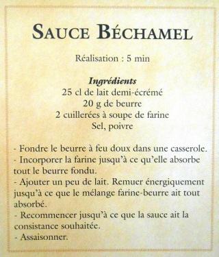 recette, sauce béchamel, recipe