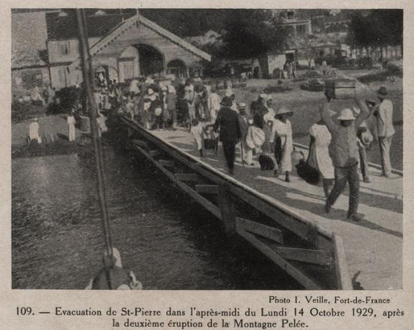 évacutation, Saint-Pierre, 1929