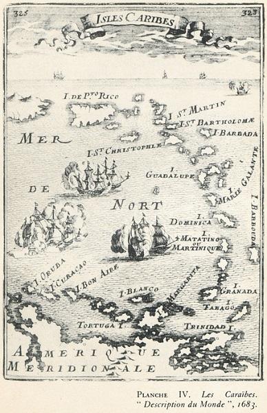Caribbean, Caraïbes, 1683