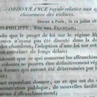 L'affranchissement des libres de fait par l'ordonnance royale du 12 juillet 1832.