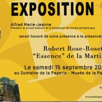 """L'exposition « Robert Rose-Rosette : """"Essence"""" de la Martinique » au Domaine de la Pagerie aux Trois-Îlets."""