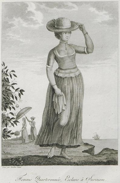 tanlistwa, manioc.org, Femme quarteronnée, esclave à Surinam, Slave, Suriman, Quadroon