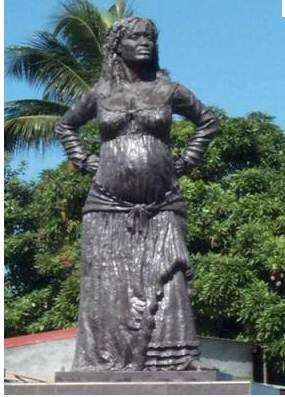 tanlistwa, Statue, La mulâtresse Solitude, Jacky Poulier
