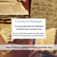 "Database on Slavery in Martinique ""Esclavage en Martinique"""
