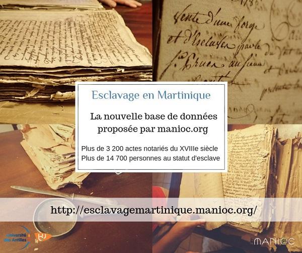 tanliswa, visuel de présentation de la base de données esclavage en Martinique