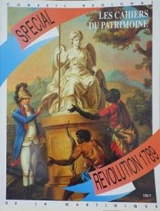 tanlistwa, couverture représentant une peinture allégorie de la révolution avec une statue et à ses pieds deux hommes noirs de dos tournés vers elle, sur le côté un homme blanc leur désignant la statue de la main.