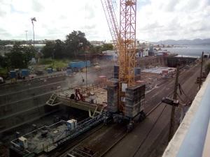 Tanlistwa, Barge, bassin de radoub, sablage, Dry Dock, Abrasive blasting, Martinique