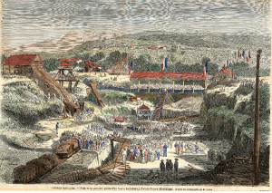 tanlistwa, estampe, bassin de radoub, Fort-de-France, 1864, Dry dock, Martinique