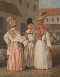 Agostino Brunias. A West Indian Flower Girl and Two other Free Women of Color. c. 1769. Yale Center for British Art.