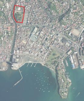 Tanlistwa, Plan IGN, parce Aimé césaire, ancien hopital militaire de Fort-de-France
