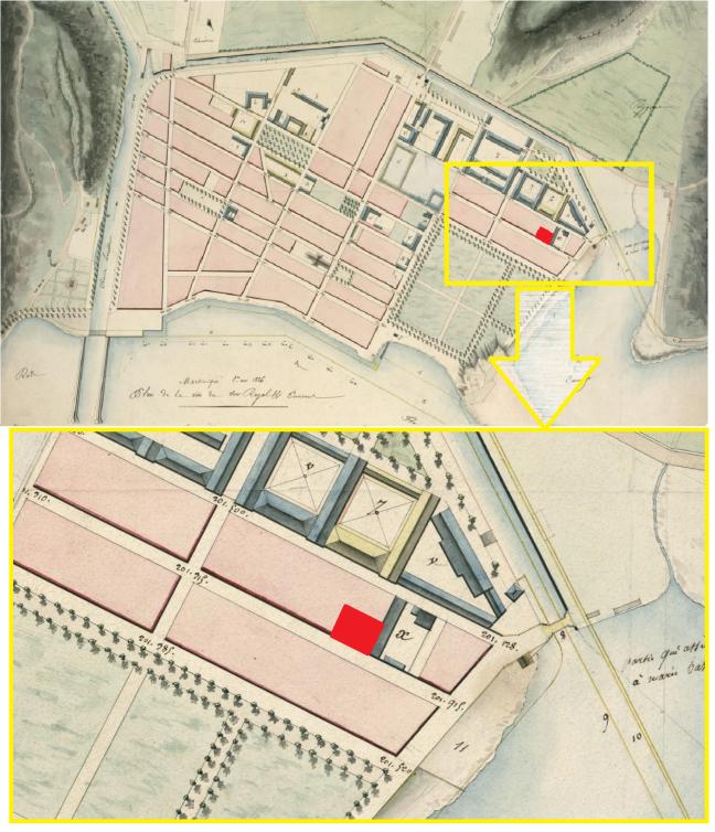tanlistwa-plan-fort-de-france-1826-forge