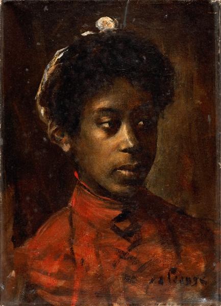 """tanlistwa, peinture, """"Mulâtresse"""", par Pierre Alexis Lesage, XXe siècle, Crédits photos (C) A. GUILLARD"""