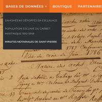 """[sur Symbole amitié] Base de données """"Minutes notariales de Saint-Pierre"""""""