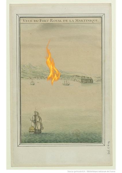 tanlistwa, gravure, vue de Fort-Royal, XVIIIe siècle